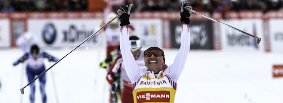 Für die DSV-Starter eine Nummer zu groß: Justyna Kowalczyk aus Polen siegt beim Langlauf in Davos.