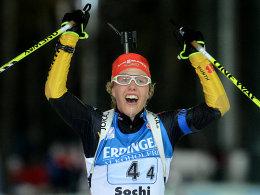 Holte als Schlussläuferin den Sieg heraus: Laura Dahlmeier.