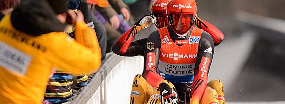Tobias Wendl und Tobias Arlt gewannen das Rennen in Altenberg.