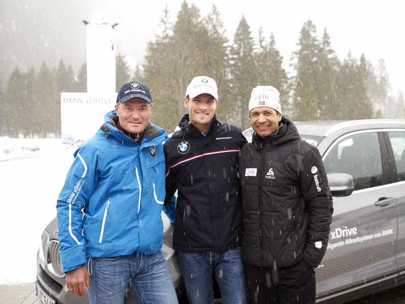 Tomczyk, Björndalen und Fischer.