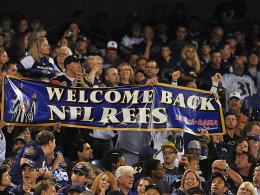 """Alle sind erleichtert - die """"richtigen"""" Referees sind zurück auf den NFL-Plätzen."""