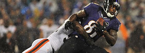 Neun Pässe über 131 Yards: Anquan Boldin ragte beim Sieg der Ravens heraus.