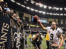 Drew Brees verbuchte im 48. Spiel in Folge einen Touchdown-Pass - NFL-Rekord!