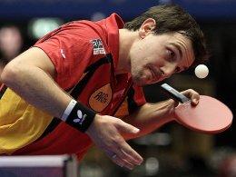 Hochkonzentriert und erfolgreich: der alte und neue Europameister Timo Boll.