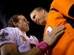 Drew Brees und Peyton Manning