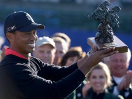 Jubiläumssieg: Tiger Woods feierte in La Jolla seinen 75. PGA-Triumph.