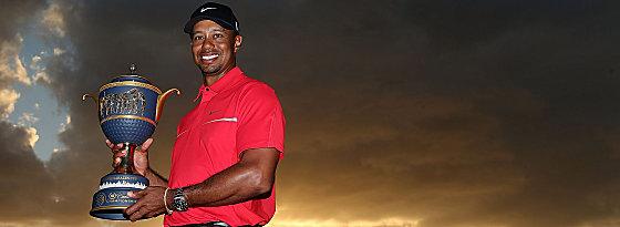 Kam nicht besonders ins Schwitzen: Tiger Woods triumphierte in Doral.