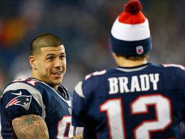 Aaron Hernandez war bislang ein häufig gesuchter Passempfänger für Patriots-Quarterback Tom Brady.