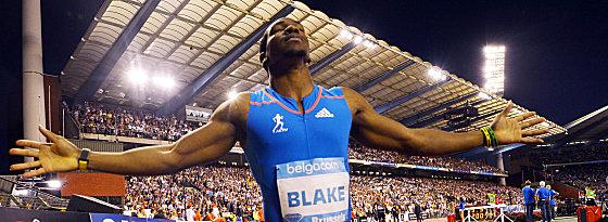 Kein WM-Start: Yohan Blake, hier bei seinem Diamond-Sieg 2012 in Brüssel, kann seinen Sprinttitel nicht verteidigen.