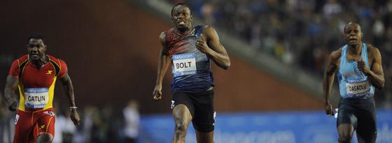 Usain Bolt (Mitte)