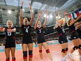 Unter den letzten Acht: Die deutschen Volleyballerinnen gewannen gegen die Türkei.