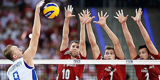 Drei-Mann-Block: Russland unterlag Polen mit 2:3.