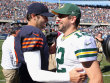 Jay Cutler (l.) und Aaron Rodgers