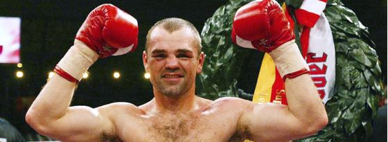 Sven Ottke nach seinem WM Kampf gegen Joe Gatti 2002.