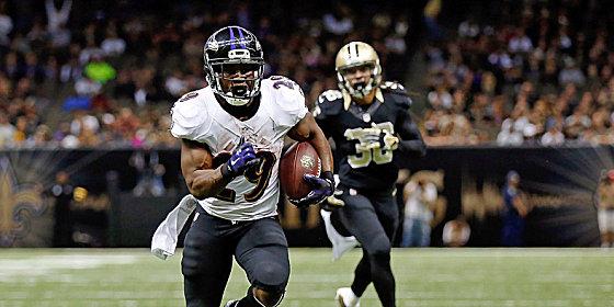 Ravens-Running Back Justin Forsett (129 Yards), war von der Saints Defensive nicht aufzuhalten.