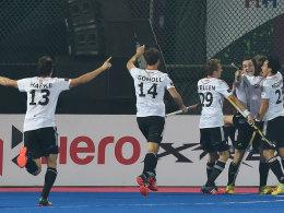 Deutschlands Hockey-Nationalteam jubelt im Champions-Trophy-Finale