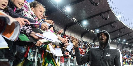 Liebling der Massen: Usain Bolt in Ostrau.