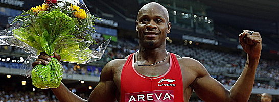 Er gewann den 100-Meter-Lauf: Asafa Powell.