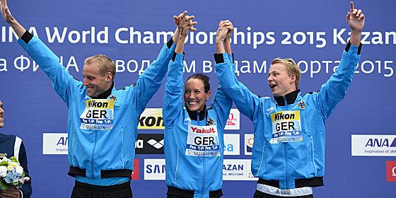 Christian Reichert, Isabelle H�rle und Rob Muffels (v.l.)