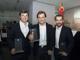 Bruno Spengler, Alessandro Zanardi und Timo Glock (v.l.).
