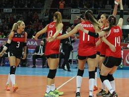 Sie hatten am Ende gut Lachen: Türkische Nationalspielerinnen.