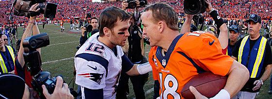 Tom Brady und Peyton Manning