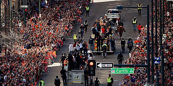Meisterfeier der Denver Broncos