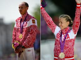 Medaillen aberkannt: Sergej Kirdjapkin und Olga Kaniskina.