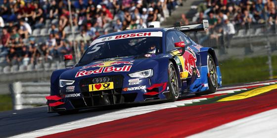 Zweiter in Spielberg, aber auch m�chtig geladen: Audi-Pilot Mattias Ekstr�m.