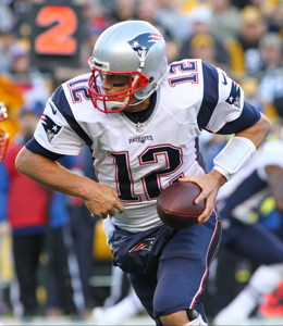 Pittsburgh ist sein Lieblingsgegner: New Englands Quarterback Tom Brady.