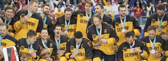 Das deutsche Eishockey-Team schrammte bei Olympia nur hauchdünn an der Goldmedaille vorbei.