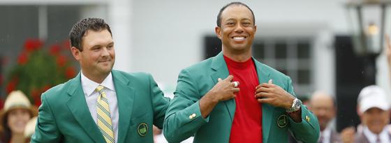 Patrick Reid und Tiger Woods