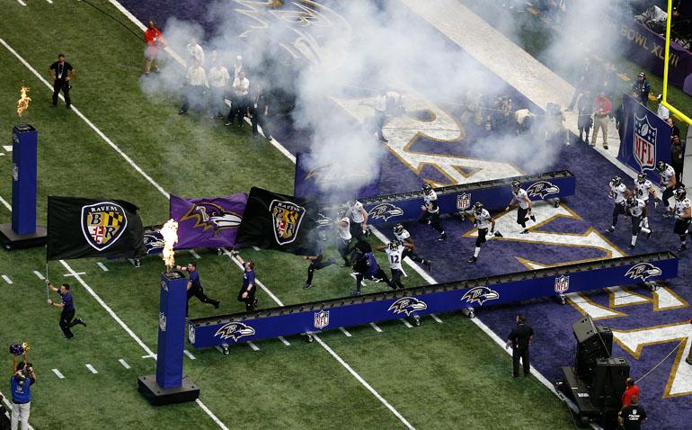 Einmarsch der Baltimore Ravens