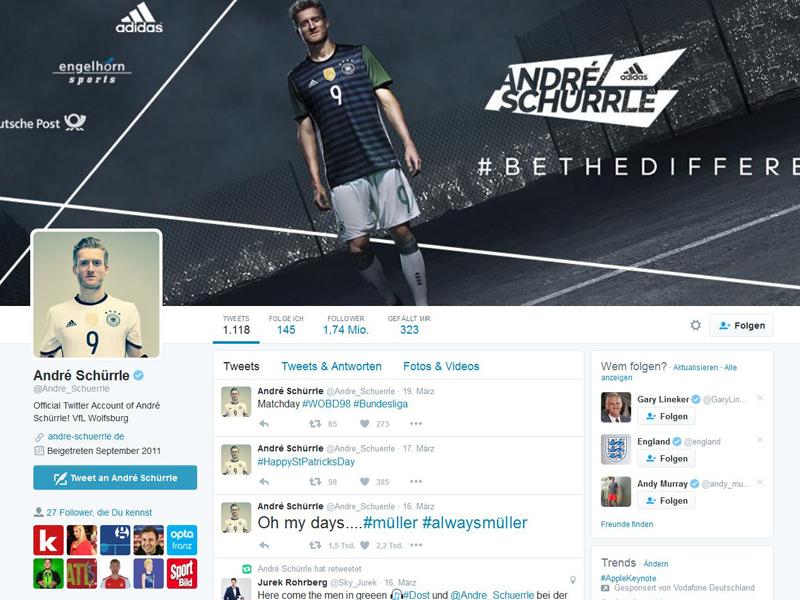 �zil & Co. - die Twitter-Stars des deutschen Sports