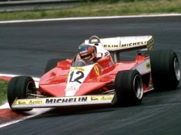 Erster Sieger und Namensgeber: Gilles Villeneuve 1978 im Ferrari.