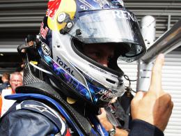 """Markenzeichen: Bekommen die Fans Sebastian Vettels """"Sieger-Finger"""" auch in Monza zu sehen?"""