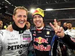 Titelverteidiger: Michael Schumacher und Sebastian Vettel haben viermal in Folge den Nationentitel geholt.