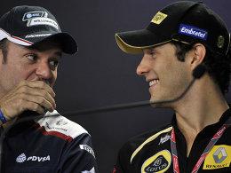 Bruno Senna (r.) ersetzt bei Williams Rubens Barrichello (l.).