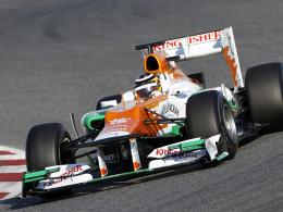 Tolle Frühform: Nico Hülkenberg stellte den Force India auf Platz eins.