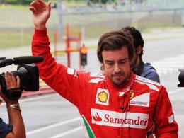 """Schnellster in Mugello: Ferrari-Pilot Fernando Alonso beim """"Heimspiel"""" in der Toskana."""