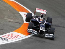 Erste Bestzeit: Williams-Pilot Pastor Maldonado war Schnellster im 1. Freien Training.