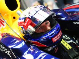 Strafversetzt: Mark Webber verliert nach Getriebewechsel am Red Bull fünf Startplätze.
