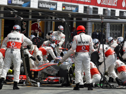 Button in der Box von McLaren