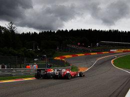 Die dunklen Wolken haben sich über dem Kurs Spa-Francorchamps verzogen.