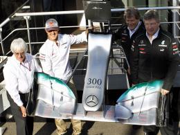 Jubilar: Rekordweltmeister Michael Schumacher bestritt in Belgien sein 300. Grand-Prix-Wochenende.
