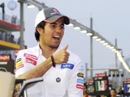 Ab 2013 im McLaren-Cockpit: Der mexikanische Suaber-Pilot Sergio Perez freut sich auf seine neue Aufgabe.