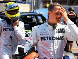 """""""Mitleid habe ich nicht"""", sagt Nico Rosberg (li.) über Mercedes-Teamkollege Michael Schumacher."""