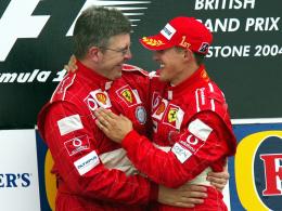 Dream-Team: Michael Schumacher und Ross Brawn feierten gemeinsam sieben Weltmeistertitel, fünf davon bei Ferrari.