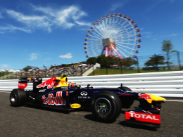 Tagesschnellster: Red-Bull-Pilot Mark Webber auf dem Suzuka International Racing Circuit.