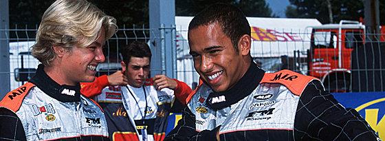 Langjährige Freundschaft: Rosberg und Hamilton kennen sich bereits aus Zeiten des Kartsports.